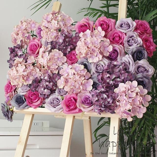 Artificielle 11 layer soie rose tête décoration fleurs pour Garden ...