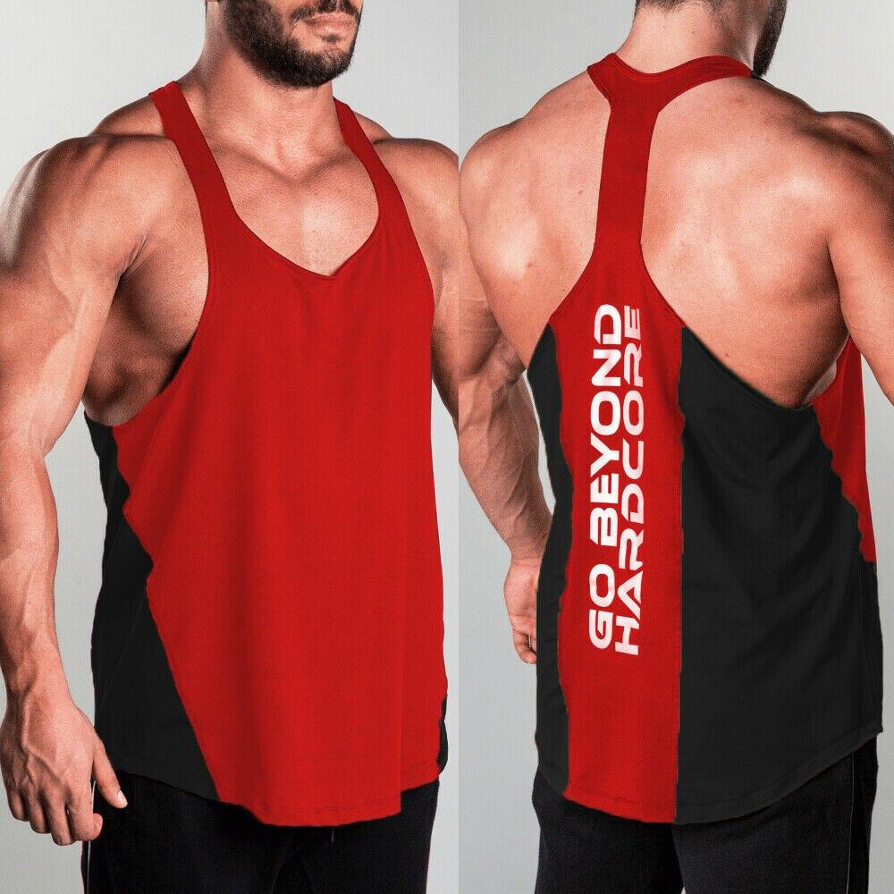 Men/'s Muscle Bodybuilding Shirt Tank Top Gym Singlet Fitness Sport Vest L