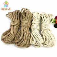 2 colors Jute Twine rope 6mm*9yard Natural twine Strong bondage shibari kinbaku sex toys product free shipping 2 pieces