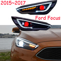 Video show Car Styling Head Lamp for Focus Headlight 2012~2017 year DRL Daytime Running Light Bi-Xenon HID Accessories