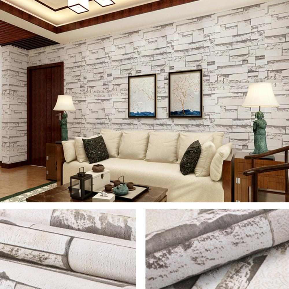US $22.44 32% OFF|Yazi 3D White Red Faxu Brick Pattern Wallpaper Beautiful  Murals Wall paper Barber Shop Bedroom Living Room Decor-in Wallpapers from  ...