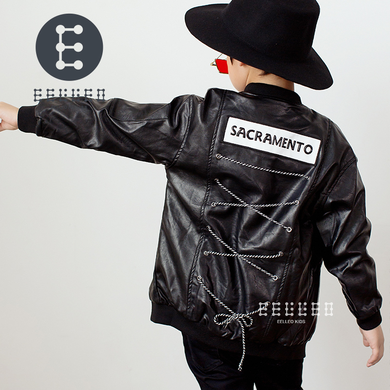 Spring Autumn Kids motorcycle leather Jacket Black Boys Moto Jackets Clothes Children Outwear For Boy Clothing Coats Costume 2017 fashion teenager motorcycle coats boys leather jackets patchwork children outerwear letter printed boy faux leather jacket