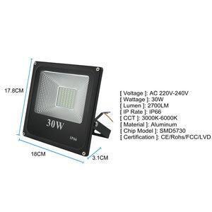 Image 2 - BUYBAY LED מבול אור 220V 240V 30W 50W 100W 200W תאורה חיצונית מקרן רפלקטור led חיצוני זרקור led exterieur