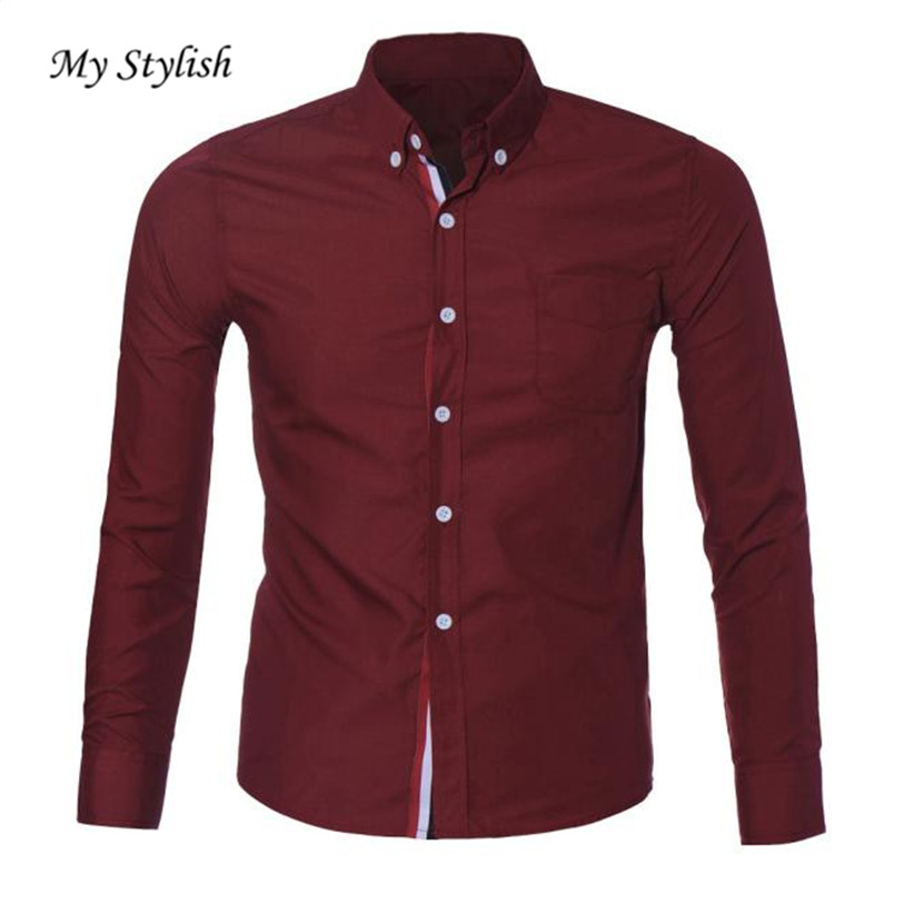 Luxury Brand Men Shirts 2018 Fashion Design Mens Luxury Long Sleeve Casual Slim Fit Stylish Dress Autumn Shirts Plus Sizejan 5 Drip-Dry Tops & Tees