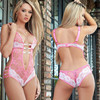 2016 New Sex Products Sexy Costumes Women Underwear Lady Sexy Lingerie Hot Transparent Conjoined Dress Suit