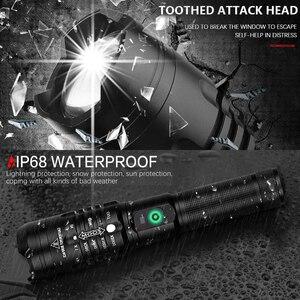 Image 5 - 6500 Lumens ไฟฉาย LED Ultra Bright xhp50.2 ส่วนใหญ่ที่มีประสิทธิภาพ USB ไฟฉายโคมไฟ 18650 ที่ดีที่สุดตกปลาตกปลาล่าสัตว์