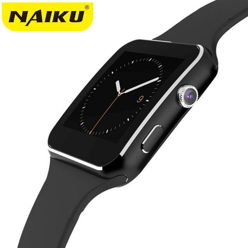 Neue X6 Smart Uhr mit Kamera Touch Screen Unterstützung SIM TF Karte Bluetooth männer Smartwatch für iPhone Xiaomi Android Telefon
