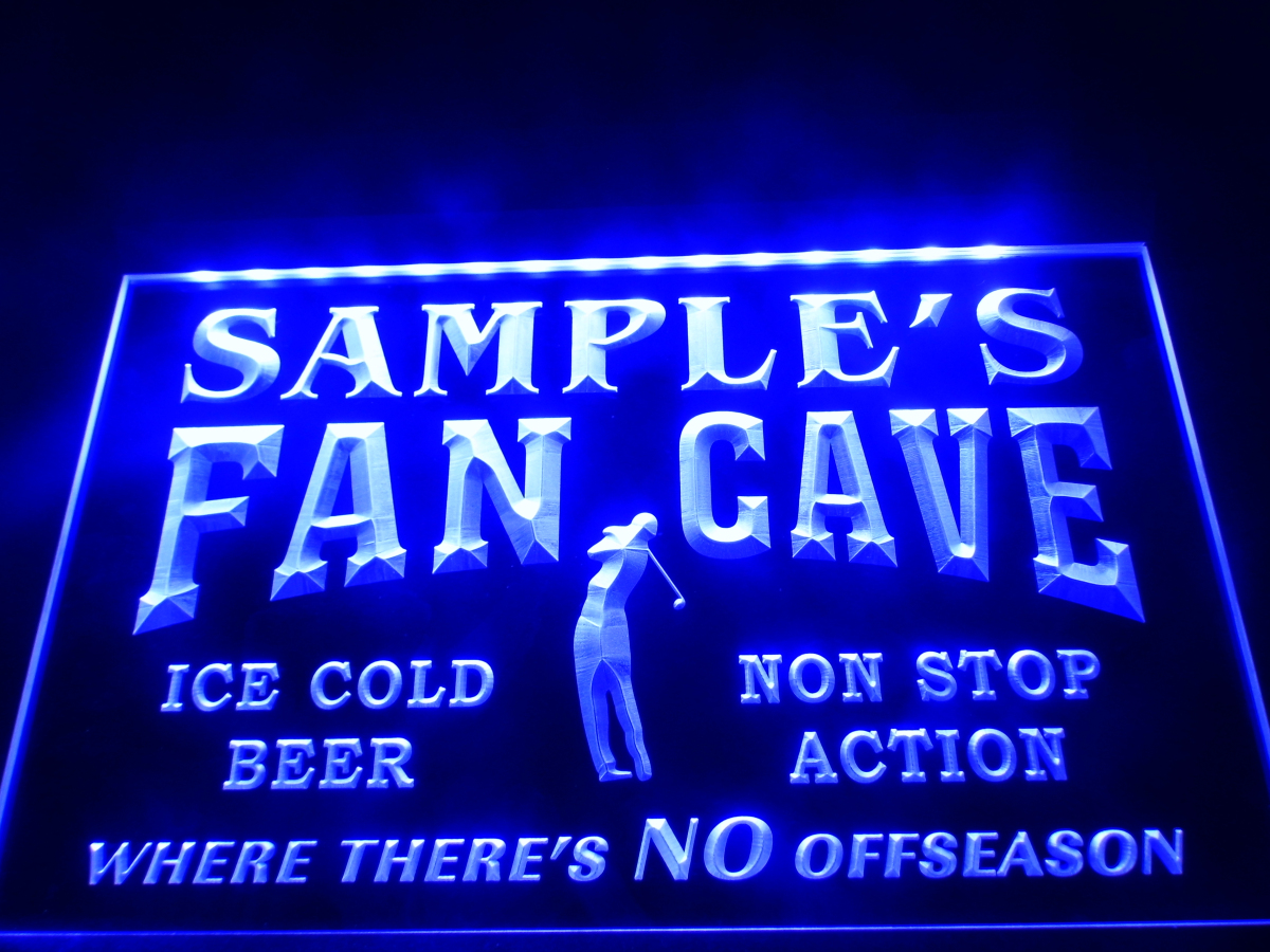 Personalized Man Cave Neon Signs : Dz name personalized custom golf fan cave man room bar