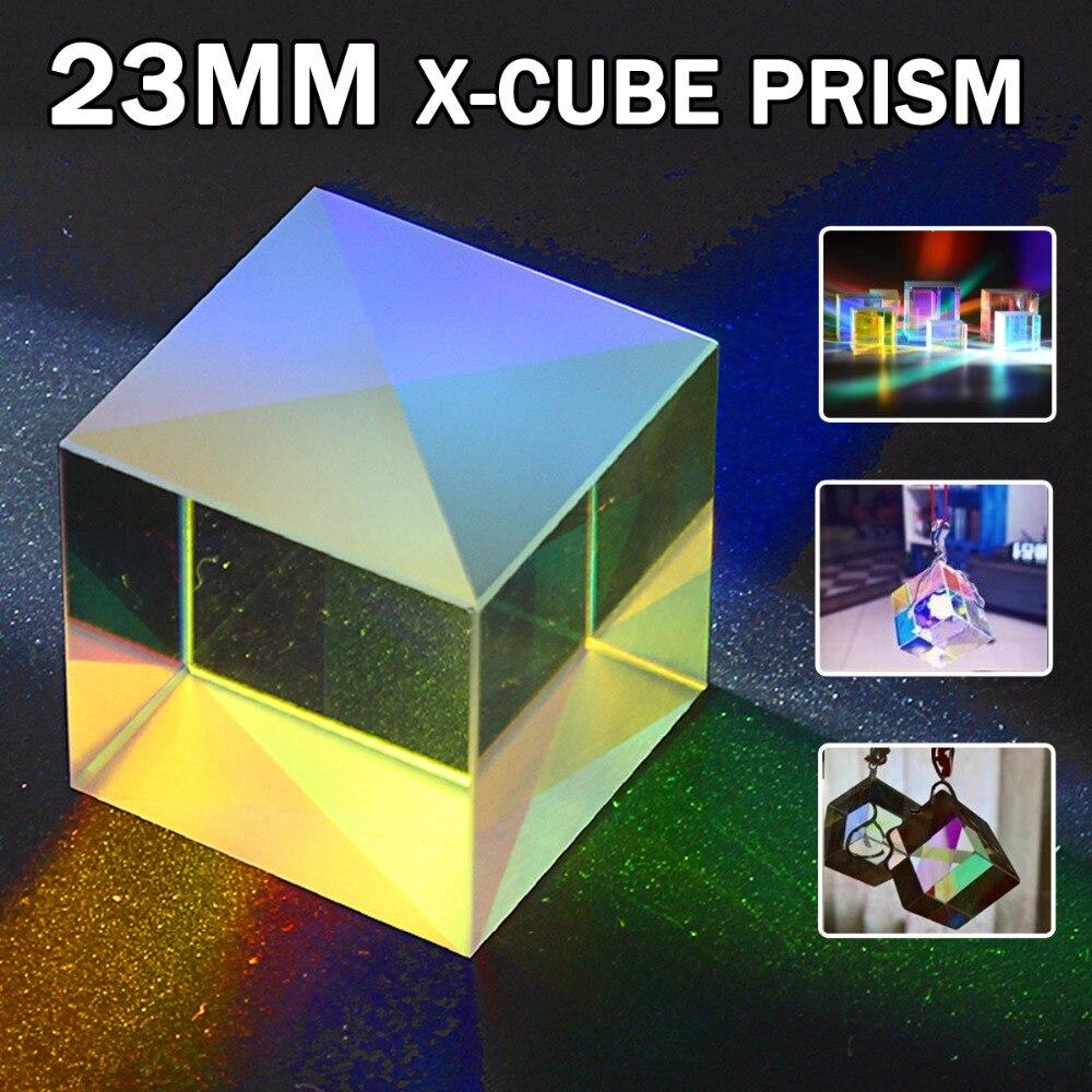 Defective Optical Glass Dichroic Prism X Cube DIY Light Science Survey