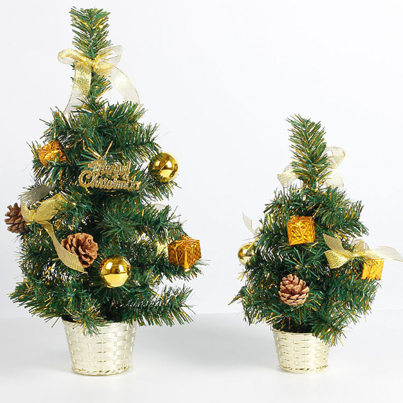Mini Small Artificial Christmas Tree Holiday New Year Festival Party Ormament Xmas Decoration Indoor Home Decor Supplies 30/45cm