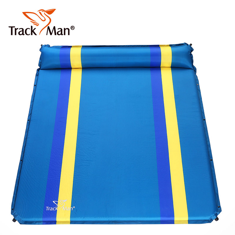 Trackman TM2223 182*152*3 cm/5 cm matelas gonflable automatique pour 2 personnes tapis de plage de Camping en plein air tapis de couchage étanche à l'humidité