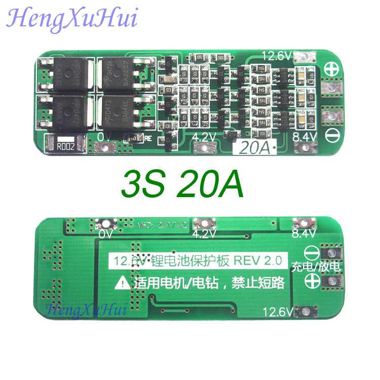 3 S 20A литий-ионный Батарея защиты печатной платы 12,6 В автоматическое восстановление (Стандартный расширенная версия опционально)