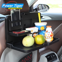 Portable Car Seat Tray Mount Meal Desk Stand Drink Cup Holder Multi Tray Food Car Stand