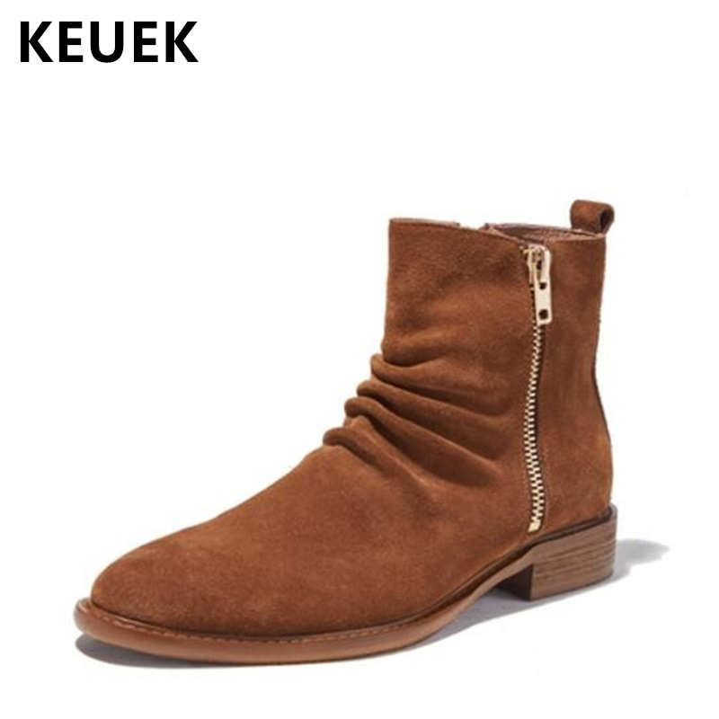 Luxury Vintage Men boots Genuine Leather Fashion Chelsea Boots Outdoor Male shoes Ankle Motorcycle boots 02ALuxury Vintage Men boots Genuine Leather Fashion Chelsea Boots Outdoor Male shoes Ankle Motorcycle boots 02A