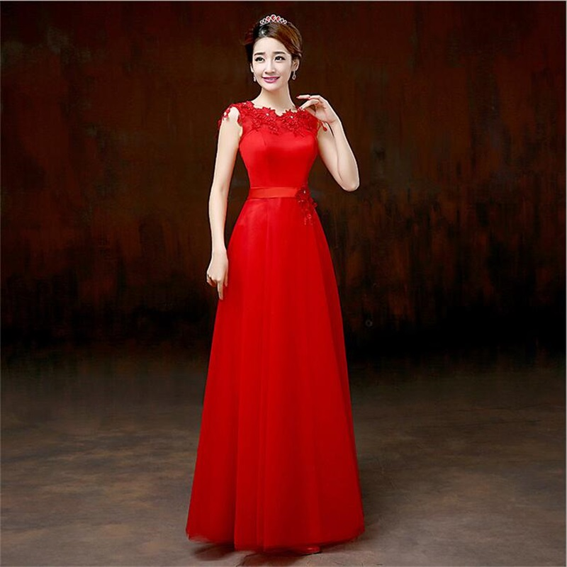 Embroidery Floor Length A Line Evening Dress 2016 Formal