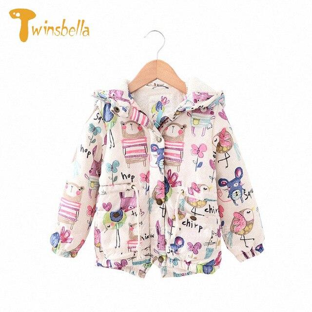 fd04d8501b2a TWINSBELLA Girl Coat Winter 2017 Fashion Children Long Sleeve Thick ...