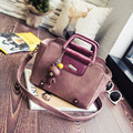 Ladies Bag 2016 New Shoulder Bag Messenger Bag Korean Fashion Turn Lock Handbag Handbags To Send Pendant
