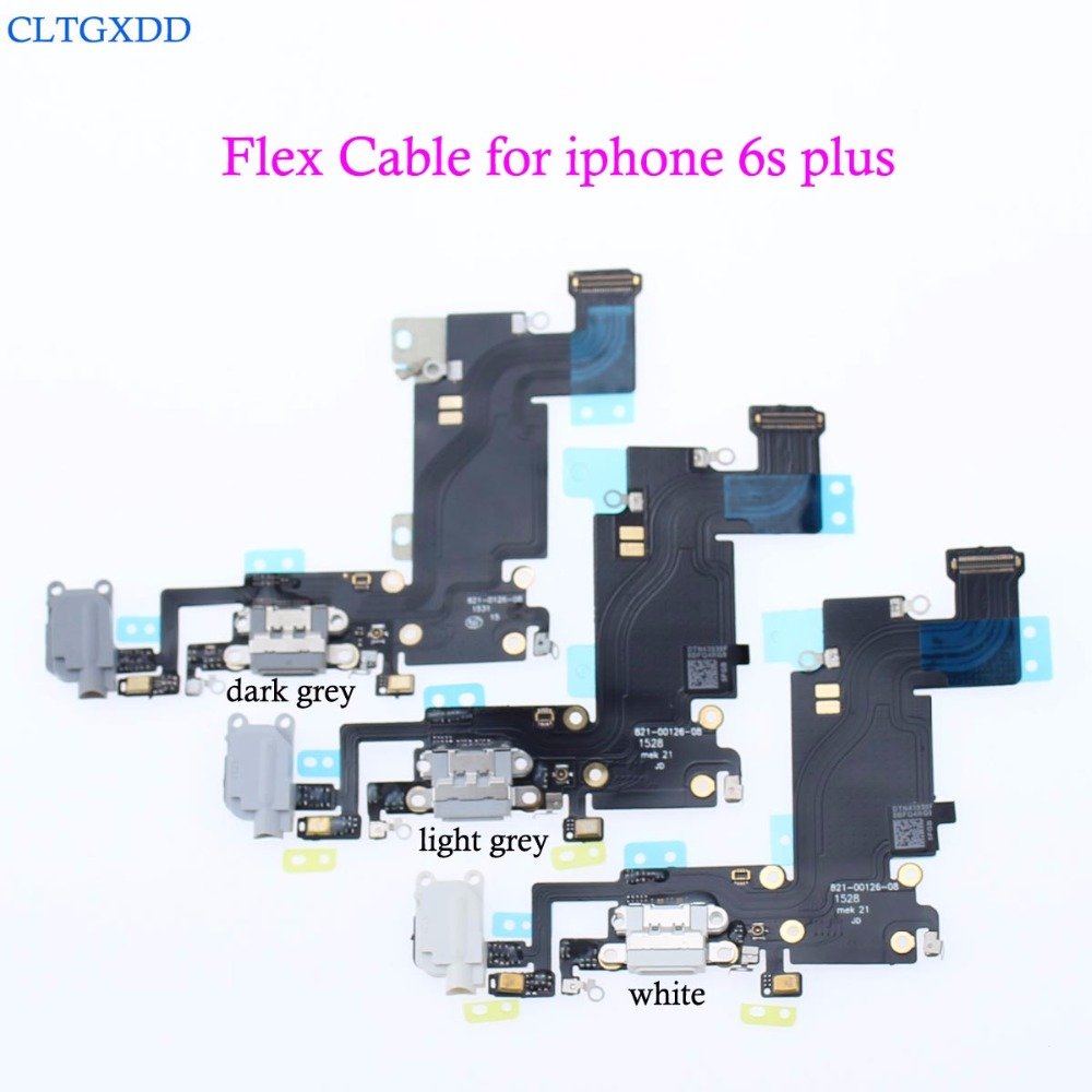 cltgxdd  NEW Charger Charging Port Dock USB Connector Flex Cable For iPhone 6S Plus 5.5 Headphone Audio Jack Ribbon 100% genuine sync date connector flex cable for asus eee pad tf101 ep101 usb charger port flex cable usb charging jack dock