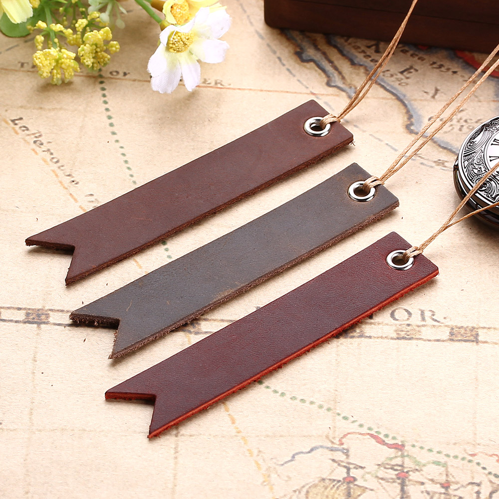 2 PCS Vintage Retro Leather Bookmark, Christmas Present Gift - Birthday Gift - Anniversary - Christmas Custom Leather Gift
