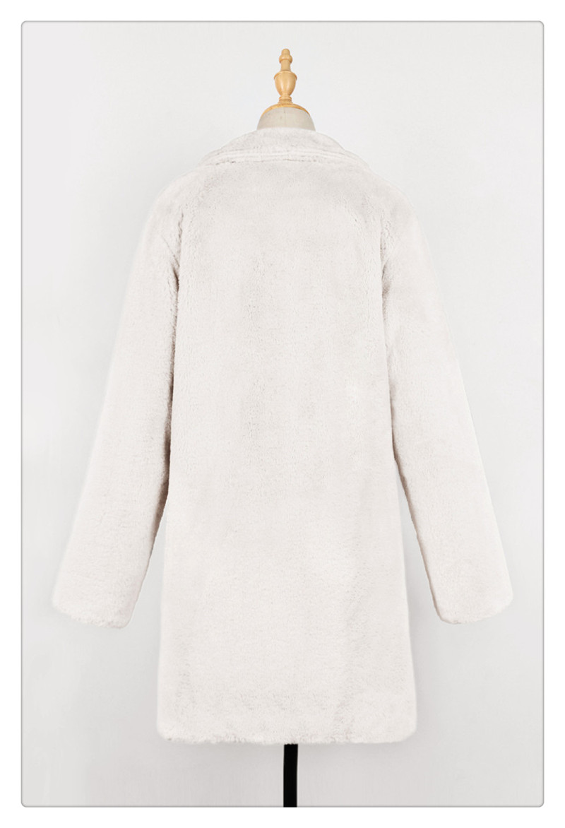 Imitation fur coat 2018 European and American women's wear long and loose plush soft rabbit hair (15)