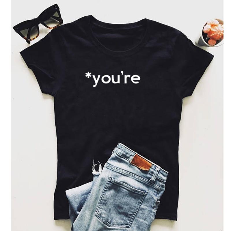 46c668d55 Funny Grammar You're English Writer T-Shirt Font Humor 90s women fashion  grunge