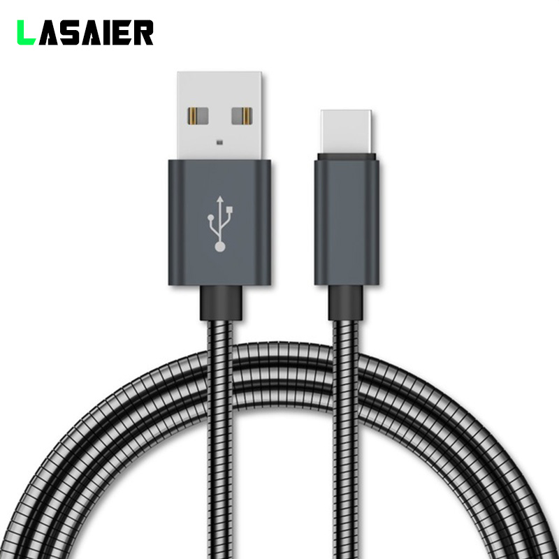 Metal Braided Micro USB Type C Cable For Huawei P10 P20 USB C Fast Charging Data Cable For Xiaomi Mi8 Oneplus 6 5T Charger Cord