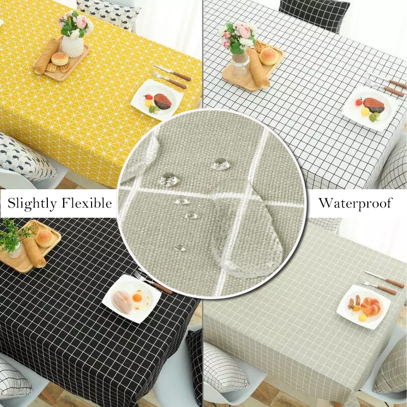 Merveilleux Black White Round Gingham Checkered Tablecloths Yellow Square Geometric  Tablecloth Cotton Linen Minor Waterproof Tablecloth In Tablecloths From  Home ...