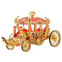 Piececool THE PRINCESS CARRIAGE 3d Puzzle Metal puzzle Assembly Model P122 GR Creative Gifts DIY Toys Collection
