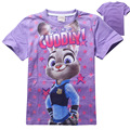 wholesale 5pcs/lot Zootopia Child Boys Girl Short T shirt Cotton Good Quality Children Kids Baby Boys Girls Shirts fnaf Clothes