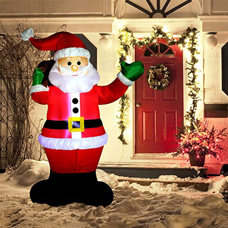 6 Foot Inflatable Santa Claus LED Light Up Giant Christmas