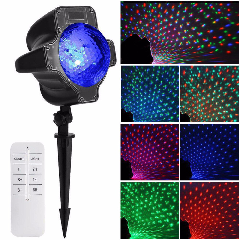 High Quality LED Laser RGB Maple Moving Projector Light Spotlight Landscape Garden Xmas Lamp high quality southern laser cast line instrument marking device 4lines ml313 the laser level