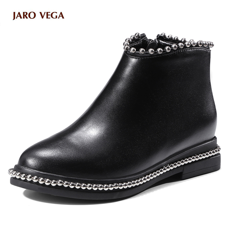 Hot sale New brand shoes women ankle boots real leather dress shoes women beading round toe platform casual shoes fashion boots hot sale halter beading sequins short homecoming dress