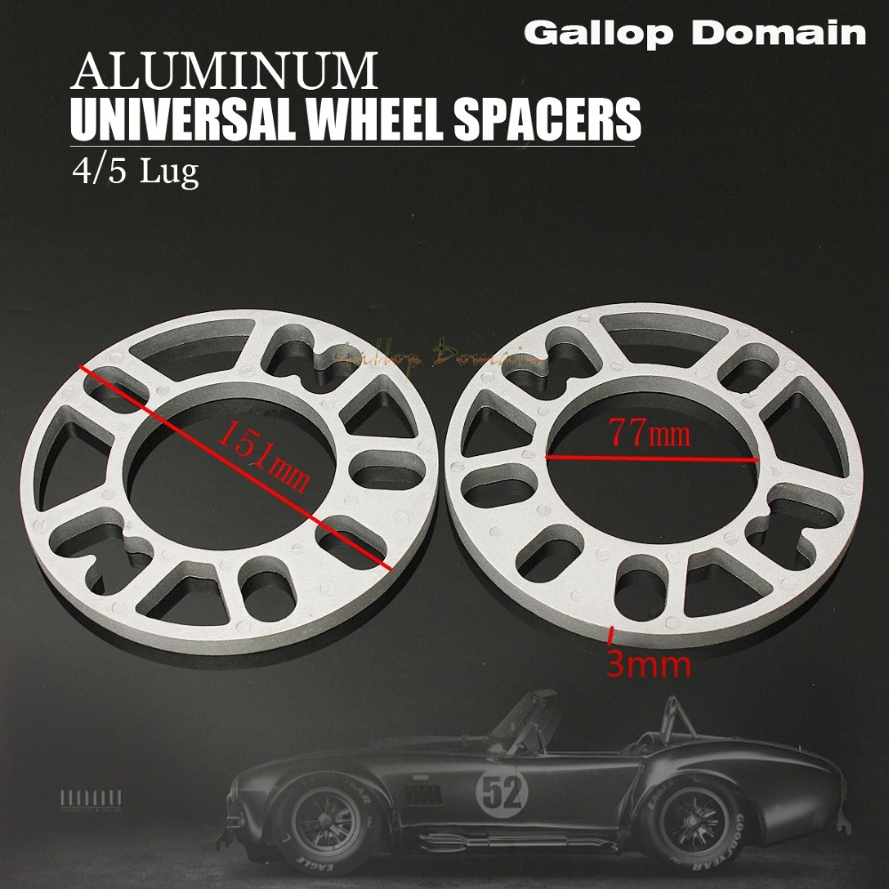 Dallop Domain 2PCS 3/5/8/10 MM ALLOY ALUMINUM WHEEL SPACERS SHIMS PLATE 4&5 STUD FIT FOR FOCUS MONDEO FREE SHIPPING Car-Styling
