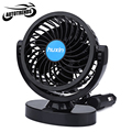 Mini Vehicle Fan DC 12V Car Truck Adjustable Silent Air Fan Auto 360 Degree Rotation Strong Wind Cooler