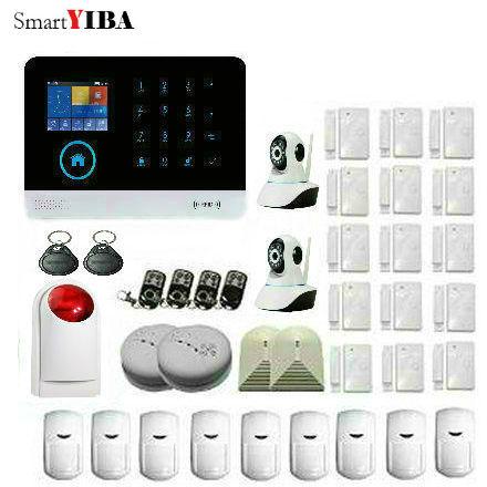 Der GüNstigste Preis Smartyiba Wifi Gsm Smswireless Hause Einbrecher Alarm Ios/android Apps Steuer Mit Ip-kamera Rauch/glas Brechen Erkennung Sicherheitsalarm