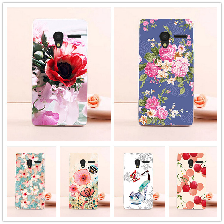 For Alcatel One Touch Pixi 3 4.5inch Phone Case DIY Painted Hard PC Back Cover Case For Alcatel Pixi 3 4027X <font><b>4027D</b></font> 4028A 4028E image