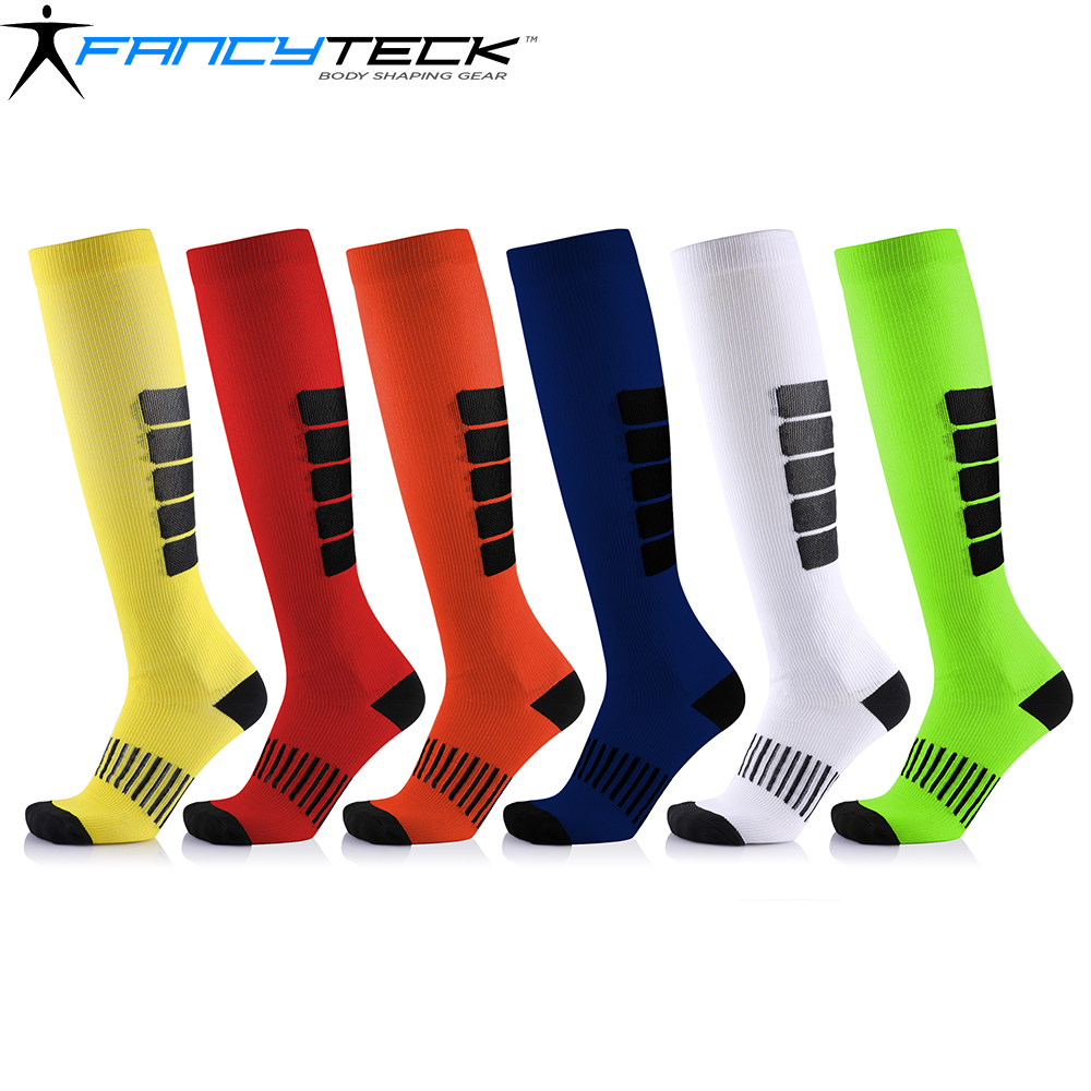 Fancyteck Compression Socks Unisex Medical Antifatigue Running Cycling Socks Relief Pain Sweat Absorbent Breathable Stocking