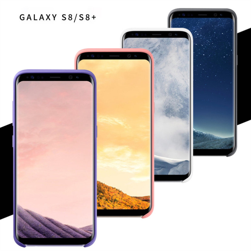 Image 2 - Original Samsung Galaxy S8/S8 Plus S8+ Silky Silicone Cover Soft Touch Finish Back Protective Case For S8/S8plus 5.8/6.2 Inch-in Fitted Cases from Cellphones & Telecommunications