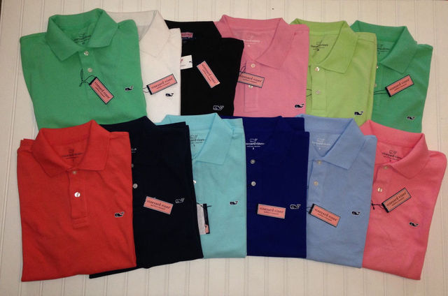32f306002 The USA famous whale brand men polo shirt cotton solid color mens brands  vineyard vines polo shirts