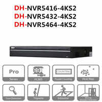 Original DH NVR system cctv 16/32/64 Channel 1.5U 4K&H.265 Pro Network Video Recorder NVR5416-4KS2 NVR5432-4KS2 NVR5464-4KS2