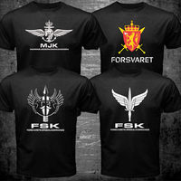 Norvegese Norway FSK Forze Speciali Forsvarets Spesialkommando Navy Army T shirt uomo militare Casuale tee USA formato S-3XL