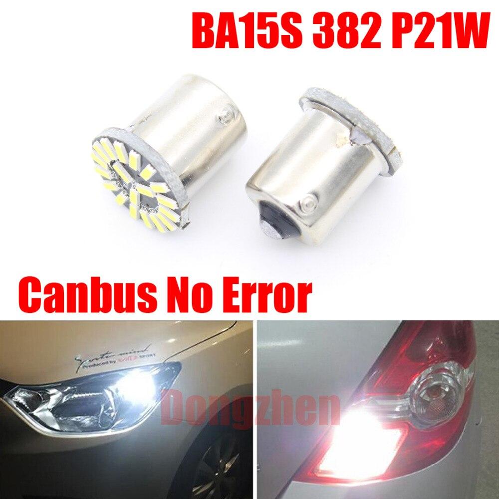 Dongzhen 2X 1156 Led BA15S 382 P21W 4014 Canbus No Error 19 SMD Car Tail Brake Light Lamp Bulb Turn Signal Light Parking White 10pcs car 1156 ba15s t25 t20 canbus led 5050 26smd no error turn brake signal led light bulbs fd 4697