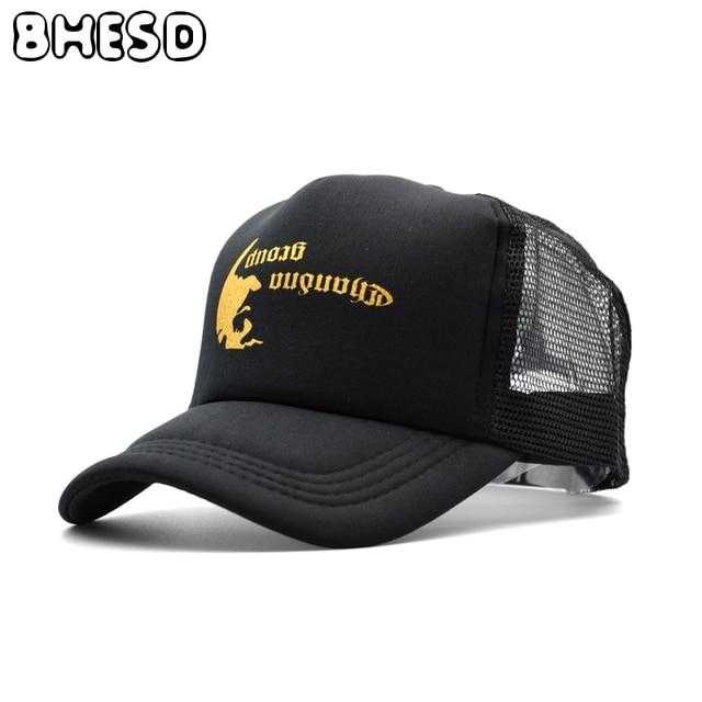 2eed152e7102 BHESD 2017 Black Printed Snapback Mesh Hat Men Trucker Cap Women Breathable Summer  Baseball Cap Casquette Gorras bone JY-376