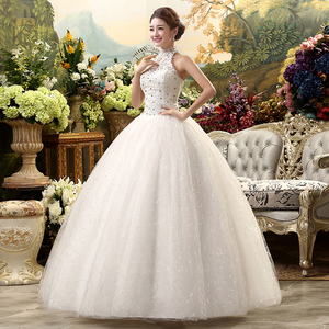 Image 4 - Fansmile 2020 Günstige Halter Spitze Hochzeit Kleid Vintage Vestidos de Novia Plus Größe Braut Kleid Unter $100 Freies Verschiffen FSM 040F