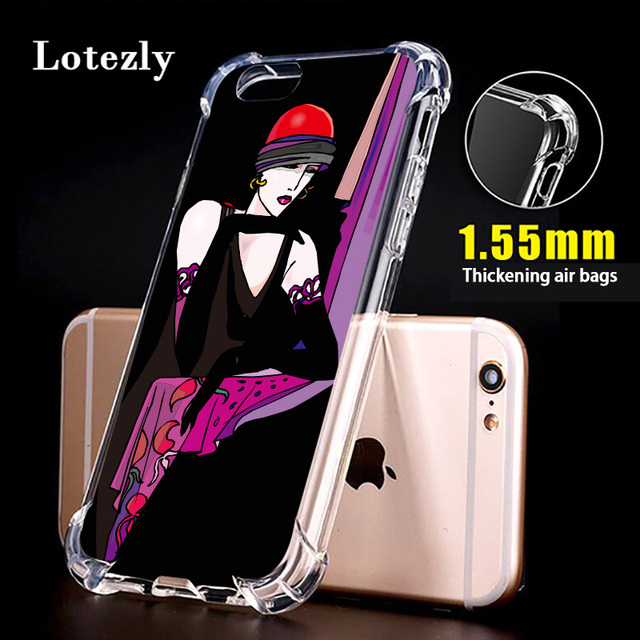 Lotezly for iPhone 6 plus case thick transparent soft shell Thickening air  bag mobile phone cases 82f9354cc63e2