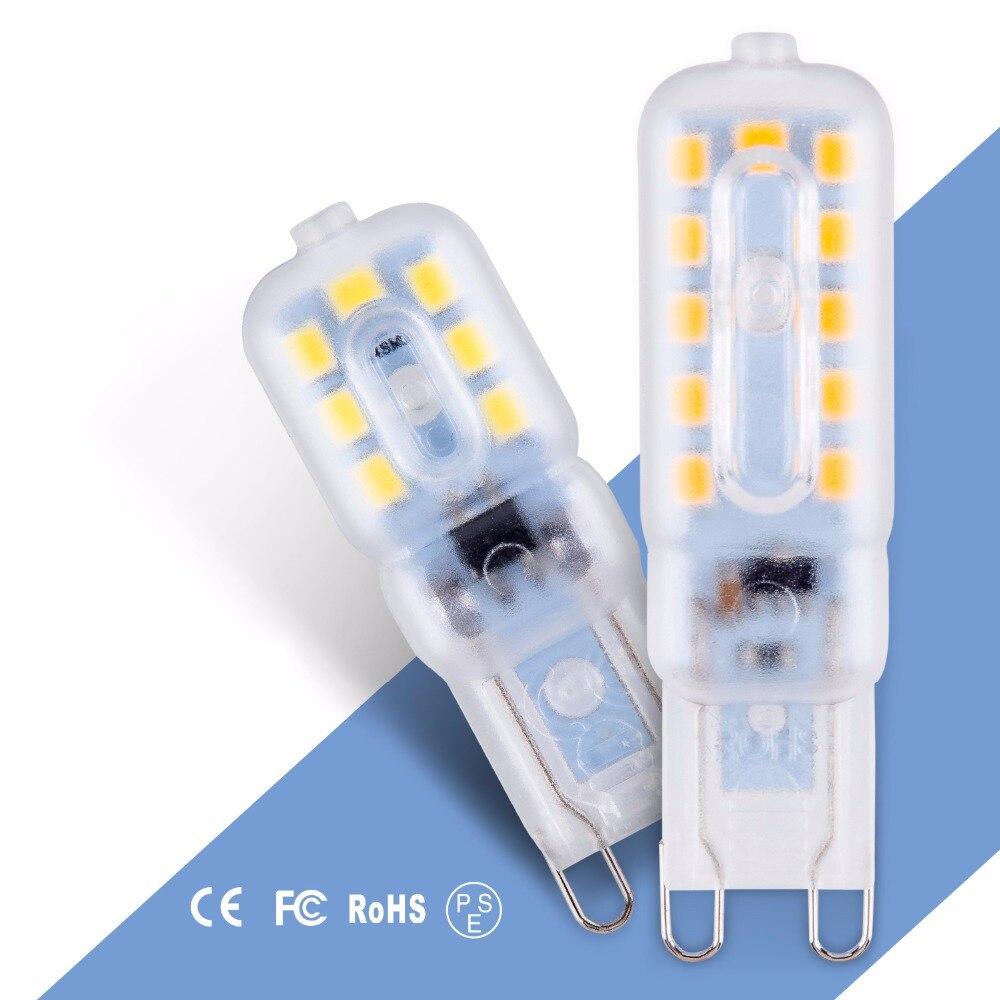 LED G9 Lamp 3W Corn Bulb g9 LED 220V Light SMD 2835 Spotlight Chandelier Replace Halogen LED Bulb 5W Bombilla Home Lighting 240V