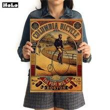 Bicicleta Vintage póster de papel de pared Retro arte estampado para el salón foto Bar Café Pub pintura Core etiqueta 42x30cm GGB071