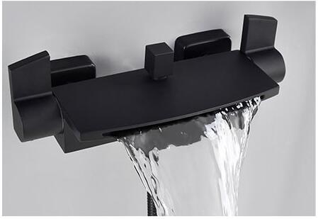 Badkamer Kraan Zwart : Kopen goedkoop wandmontage badkamer kraan zwarte olie geborsteld bad