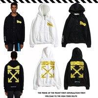 Белая толстовка с капюшоном бренда yellow arrow trend hoodie