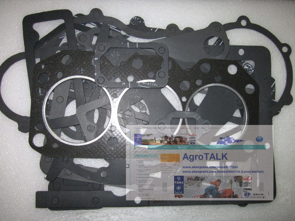 Yangdong Y385T for JINMA 254 284 tractor, the set of gaskets kit including the head gasket changchai zn485t for tractor use the set of gaskets including the head gasket as showed